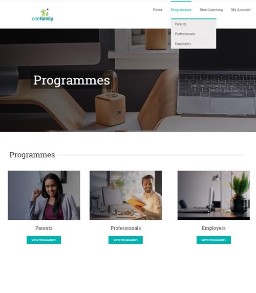 Programmes Page Mockup