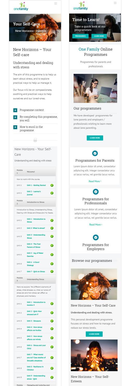 Programmes Mobile Mockup