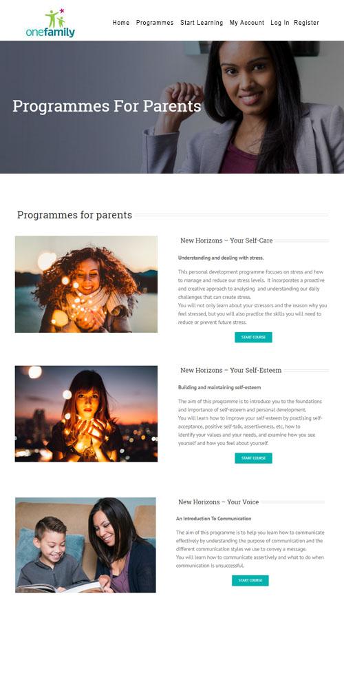 Programme For Parents Mockup