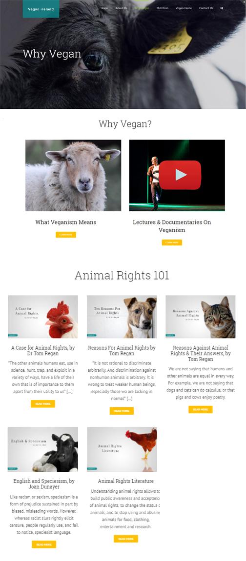 Why Vegan Page Mockup